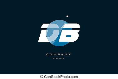 db d b blue white circle big font alphabet company letter...