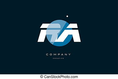 ra r q blue white circle big font alphabet company letter...