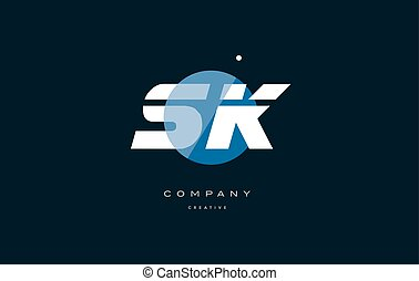 sk s k blue white circle big font alphabet company letter...