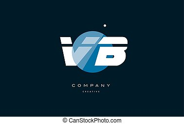 vb v b blue white circle big font alphabet company letter...