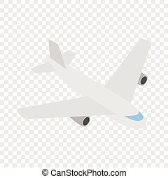 Plane isometric icon 3d on a transparent background vector...