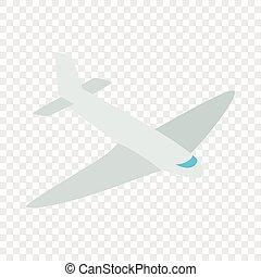 Passenger plane isometric icon