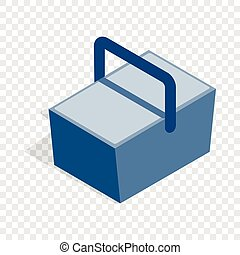 Bag refrigerator isometric icon 3d on a transparent...