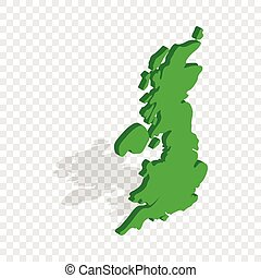 Map of Great Britain isometric icon