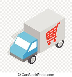 Truck for delivery isometric icon