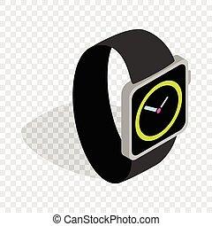 Wristwatch isometric icon