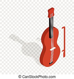 Violin isometric icon 3d on a transparent background vector...