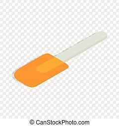 Spatula isometric icon 3d on a transparent background vector...