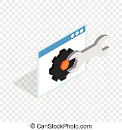 Computer repair isometric icon 3d on a transparent...