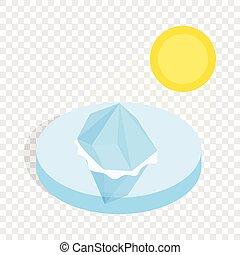 Melting iceberg isometric icon