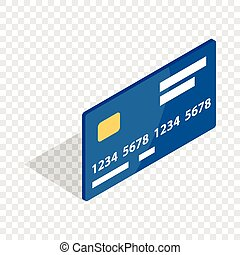 Bank card isometric icon 3d on a transparent background...
