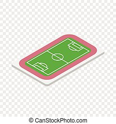 Soccer field isometric icon