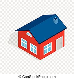 House with attic isometric icon