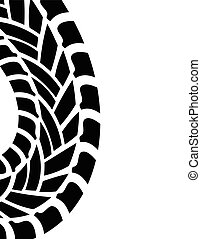 tire print, vector illustration, eps10 - tire print, vector...
