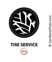 tire shop and service background