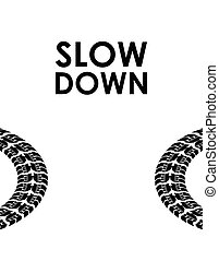 slow down transportation background
