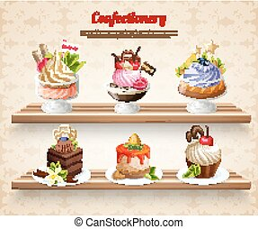 Confectionery Colorful Illustration