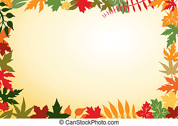 Autumn Leaves vector background with copy space