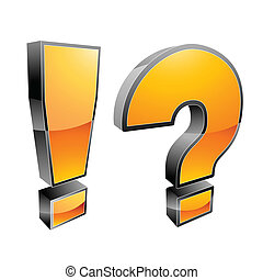 exclamation mark and question mark vector illustration