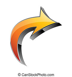 3d arrow - Arrow 3d icon vector illustration