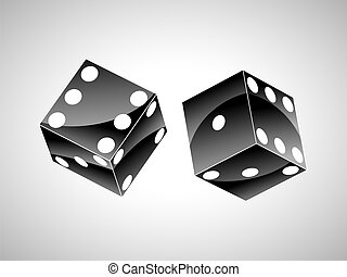pair of black dice