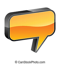talk bubble 3d icon vector illustration