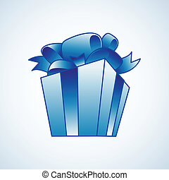 Christmas present box vector illustration