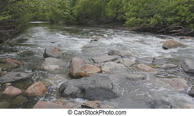 Don river. - Rushing river. View looking downstream. Don...