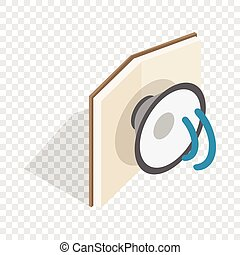Audiobook isometric icon 3d on a transparent background...