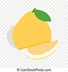 Pomelo isometric icon 3d on a transparent background vector...