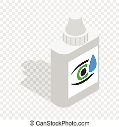 Eye drops isometric icon 3d on a transparent background...
