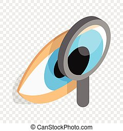 Eye exam isometric icon 3d on a transparent background...