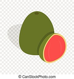Guava fruit isometric icon 3d on a transparent background...