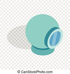 Webcam isometric icon 3d on a transparent background vector...