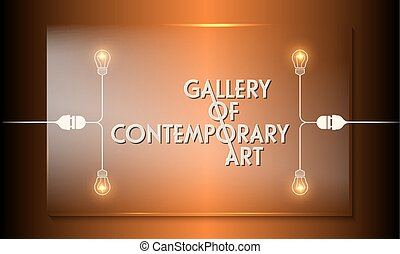Glass panel with the words gallery of contemporary art