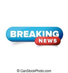 Breaking News logo vector button