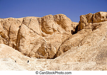 Cliffs of the Valley of the Kings - Image of cliffs at the...