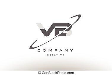 vb v b swoosh grey alphabet letter logo - vb v b grey swoosh...