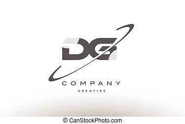 dg d g swoosh grey alphabet letter logo - dg d g grey swoosh...