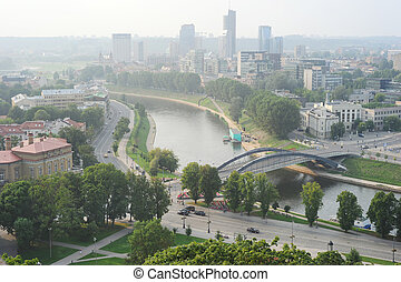Vilnius - view on the capital of Lithuania