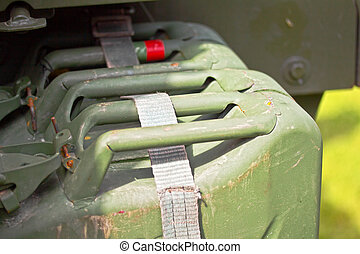Military Fuel Tanks - Photograph of worn military fuel tanks...