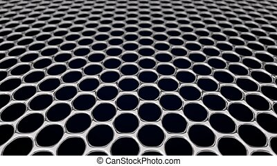 3d illustration of graphene structure. thin material...