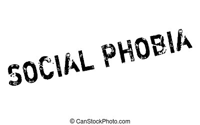 Social Phobia rubber stamp. Grunge design with dust...