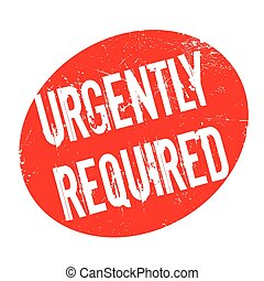 Urgently Required rubber stamp