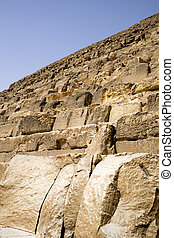 Egyptian Great Pyramid - Image of a section of The Great...