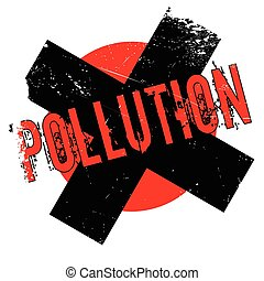 Pollution rubber stamp. Grunge design with dust scratches....