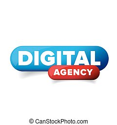 Digital agency button vector isolated