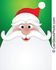 Santa background - Christmas background with cartoon santas...