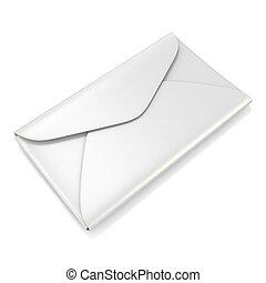 Blank white envelope 3D