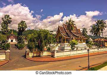 September 20, 2014: The Haw Pha Bang temple in Luang...